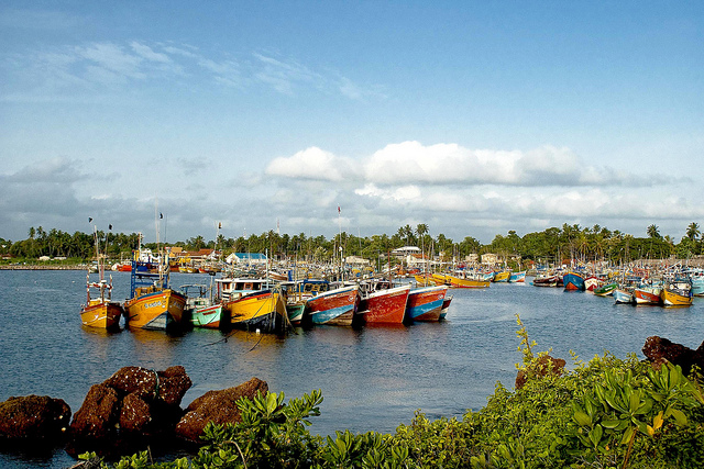 Beruwala Fishery Harbour. Photographer: Hafiz Issadeen. https://www.flickr.com/photos/yimhafiz/